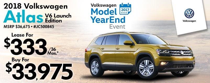 Volkswagen Lease Specials >> New 2018 Volkswagen Atlas Lease Special